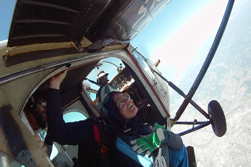 Fallschirmspringer Absetzer