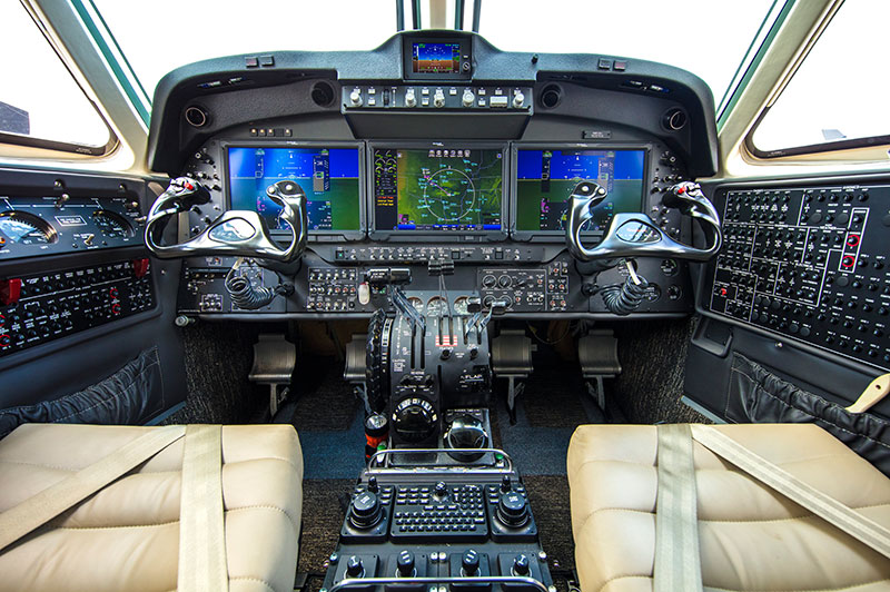 Cockpit King Air 250
