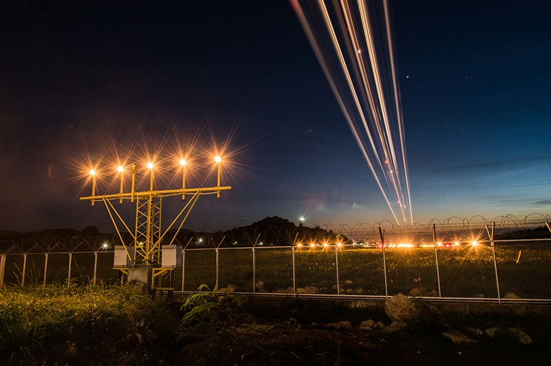 Nachtflug Anflugbefeuerung